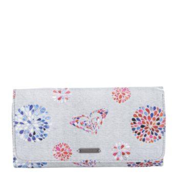Šedá peněženka s potiskem květů Roxy My