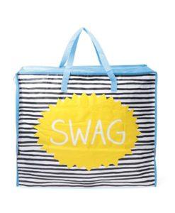 Modrá pruhovaná nákupní taška Happy Jackson Swag