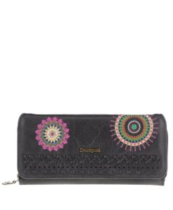 Černá peněženka s barevným vzorem Desigual Maria Suzie