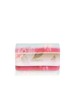 Červeno-krémová peněženka Desigual Mix Polynesia