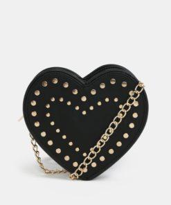 Černá crossbody kabelka ve tvaru srdce Fornarina Valentnie