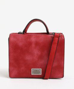 Červená vzorovaná crossbody kabelka Bessie London