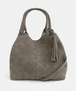 Šedá kabelka s třásní Dorothy Perkins