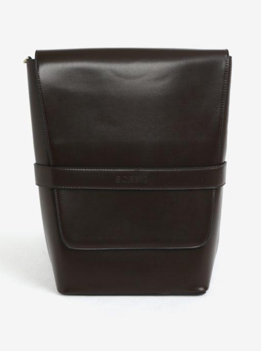 Hnědý koženkový batoh Bobby Black
