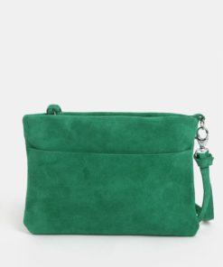 Zelené semišové psaníčko s třásní KOZAK Mia