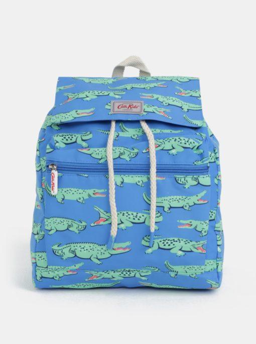 Zeleno-modrý klučičí batoh s potiskem krokodýlů Cath Kidston