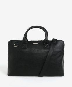 Černá koženková taška přes rameno Bobby Black