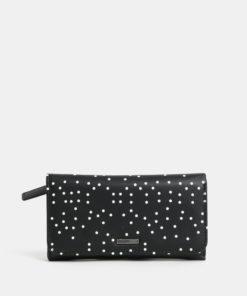 Černá vzorovaná peněženka Roxy