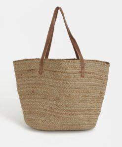 Béžová plážová taška Pieces Gracia