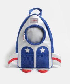 Klučičí batoh ve tvaru rakety v modré a stříbrné barvě Cath Kidston