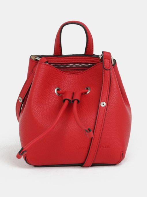 Červená malá vaková kabelka Calvin Klein Jeans