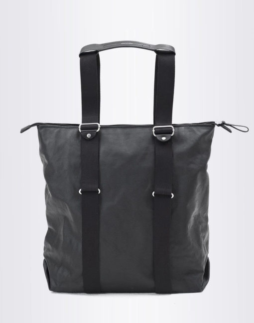 QWSTION Simple Zip Shopper Organic Jet Black