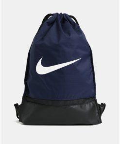 Tmavě modrý voděodolný vak s potiskem Nike 17 l