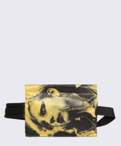 Eastpak Raf Simons Poster Waistbag Black Satin Punk Yellow