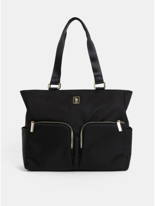 Černá kabelka U.S. Polo Assn.