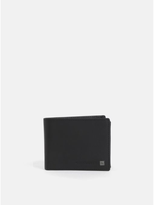 Černá kožená peněženka Quiksilver Curve Cutter