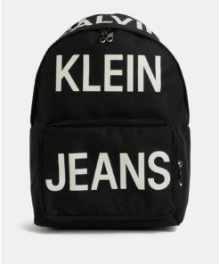 Černý batoh s potiskem Calvin Klein Jeans