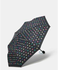 Černý skládací deštník s taškou 2v1 Esprit