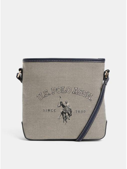 Béžová crossbody kabelka U.S. Polo Assn.