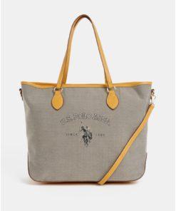 Béžová kabelka U.S. Polo Assn.