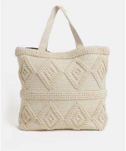 Béžová plážová taška Pieces Billen