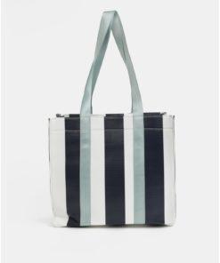 Bílo-modrá kabelka Pieces Briannah