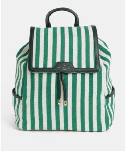 Krémovo-zelený pruhovaný batoh Paul's Boutique Cassandra