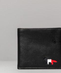 MAISON KITSUNÉ Tricolour Leather Wallet Black Univerzální velikost