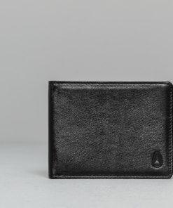 Nixon Cape Leather Wallet Black Univerzální velikost