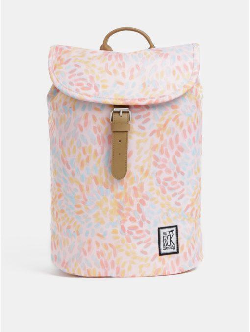 Světle růžový dámský vzorovaný voděodpudivý batoh The Pack Society 10 l