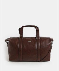Tmavě hnědá cestovní taška s kapsou na notebook  Bobby Black