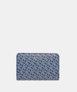 Modrá dámská vzorovaná peněženka Tommy Hilfiger