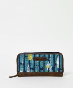 Modrá vzorovaná peněženka Brakeburn Fender